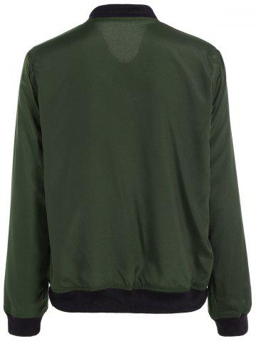 Fashion Convertible Zip Up Bomber Jacket - S GREEN Mobile