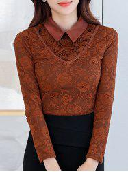 Flower Fleece Lace Top