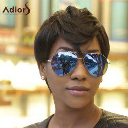 Adiors Virile Short Fluffy Full Bang Synthetic Hair Wig - BLACK BROWN