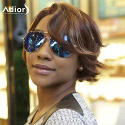 Adiors Fluffy Side Parting Natural Wave Short Colormixed Synthetic Wig -