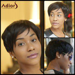 Adiors Inclined Bang Synthetic Shaggy Short Layered Wigs