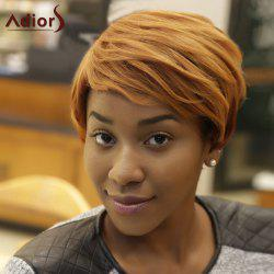Adiors Short Fluffy Mixed Color Side Bang Synthetic Wig -