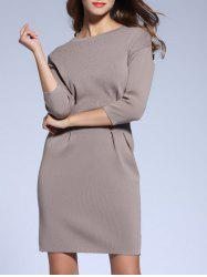 Ruched Knitted Dress -