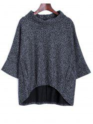 Dolman Sleeve Irregular Blouse -