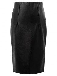 Faux Leather High Waisted Pencil Skirt