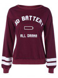 No Battery All Drama Print Sweatshirt -