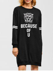 Because of U Graphic Tiger Print Dress
