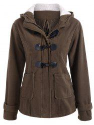 Winter Hooded Duffle Coat - COFFEE