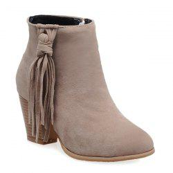 Tassels Suede Ankle Boots -