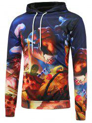 Kangaroo Pocket 3D Cartoon Printed Pullover Hoodie