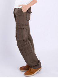 Multi Pocket Zipper Fly Straight Leg Pants -