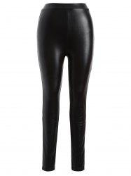 Plus Size Faux Leather Skinny Bodycon Pants