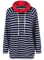 Elbow Patch Striped Sweatshirt - STRIPE XL
