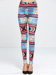 Skinny Cross Print Leggings -