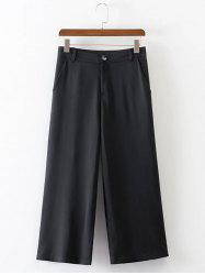 Cropped Wide Leg High Waist Pants