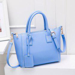 Stitching Pendant PU Leather Tote
