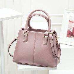 PU Leather Metal Embellished Tote - PINK