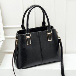 PU Leather Metal Embellished Tote