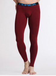 Breathable U Convex Pouch Warmth Long Pants - WINE RED