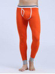 Breathable Edging Design U Convex Pouch Warmth Long Pants