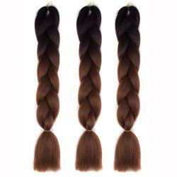1 Pcs Multicolor Ombre High Temperature Fiber Braided Long Hair Extensions