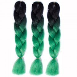 1 Pcs Multicolor Ombre à haute température en tranchant Long Hair Hair Extensions - Multicolore