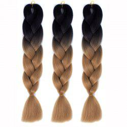 Multicolor 1 Pcs High Temperature Fiber Braided Hair Extensions