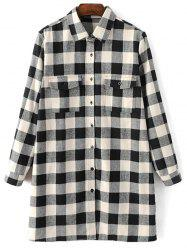 Checked Boyfriend Long Flannel Shirt