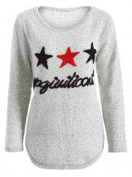 Star Letter Pattern Sweater
