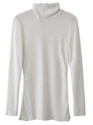 High Collar Long Sleeve Tee -