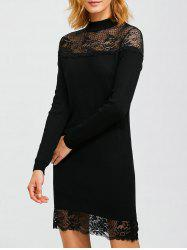 Lacework Hollow Out Slimming Knitted Dress -