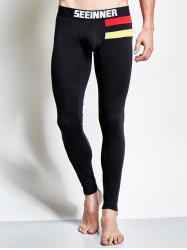 Skinny Contrast Paneled Thermal Long Johns