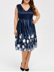 Floral Print Plus Size Tulip Dress