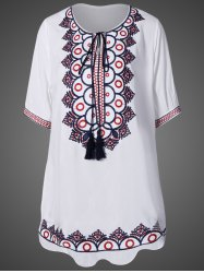 Embroidered Tunic Dress -