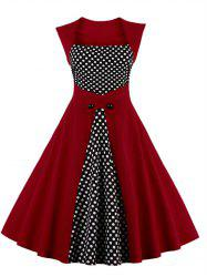 Polka Dot Semi Formal Skater Dress
