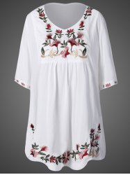 Floral Embroidered Relaxed Dress -