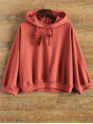 Drawstring Drop Shoulder Hoodie
