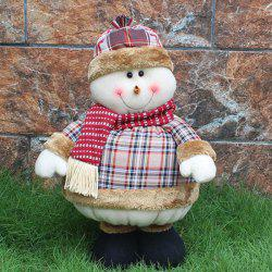 Christmas Party Decor Snowman Stretched Puppet Toy - COLORMIX