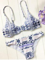 Blue and White Porcelain Padded Bikini