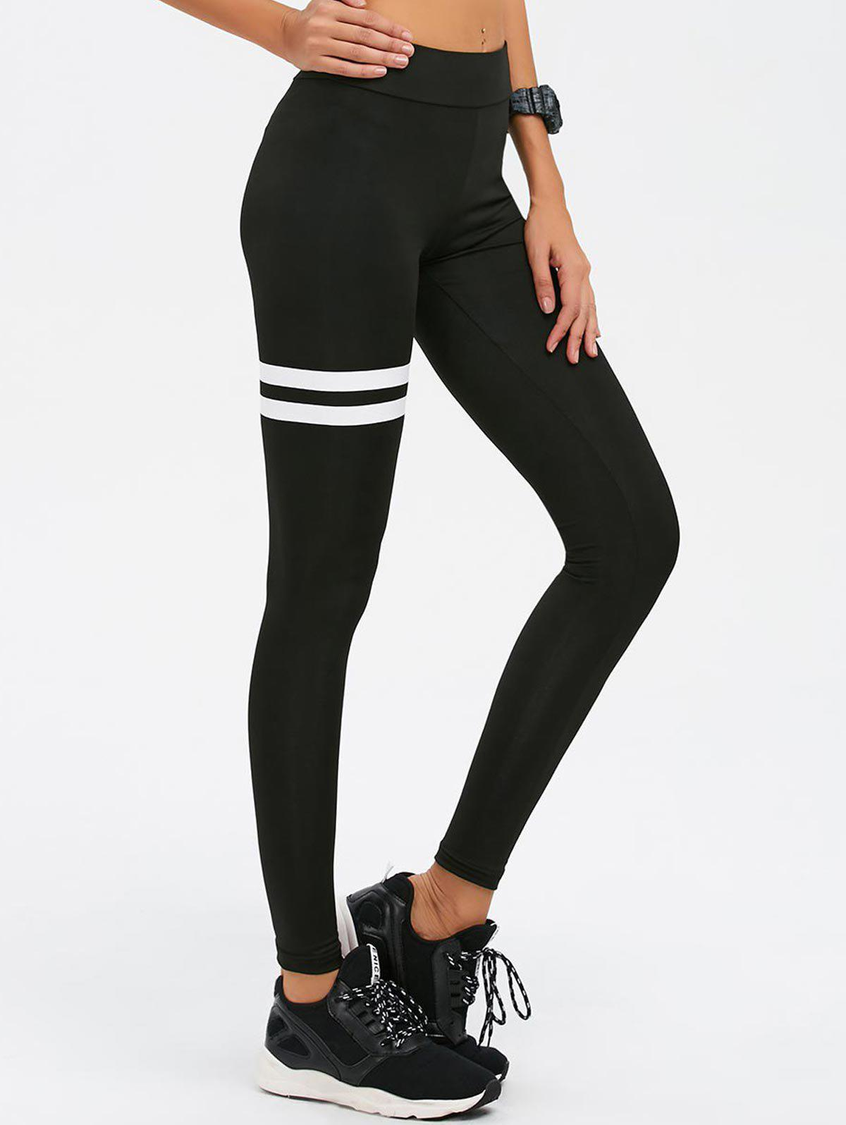 482c8f0a6ff416 42% OFF] High Waist Skinny Sports Leggings | Rosegal