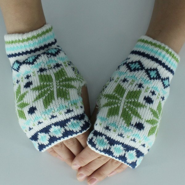 Outfit Christmas Snow Knitted Fingerless Gloves