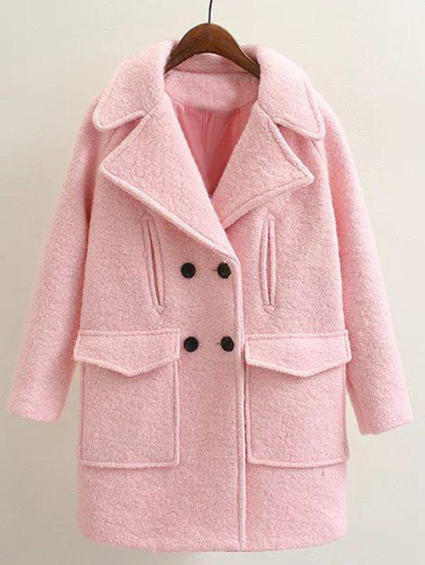 Affordable Long Double Breasted Wool Coat