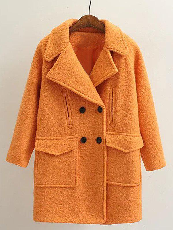 Store Long Double Breasted Wool Coat