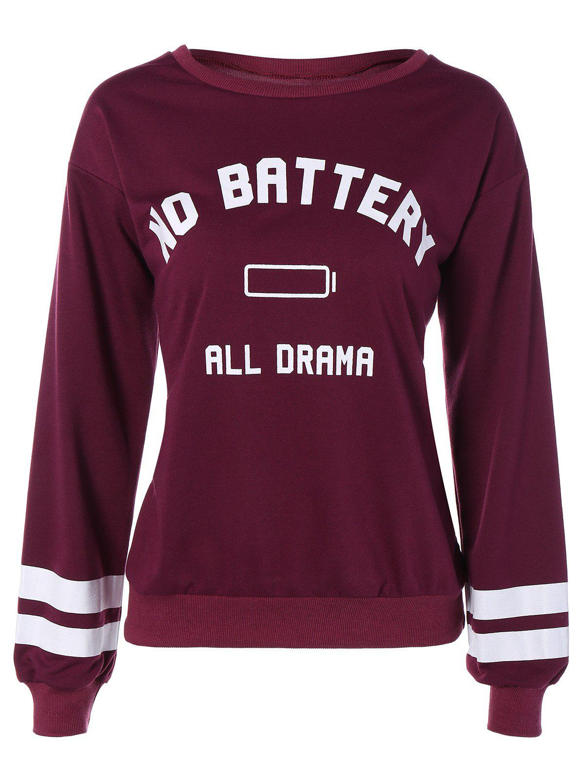 Online No Battery All Drama Print Sweatshirt