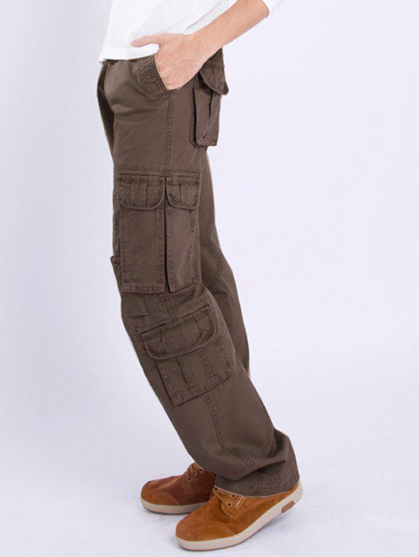Latest Multi Pocket Zipper Fly Straight Leg Pants