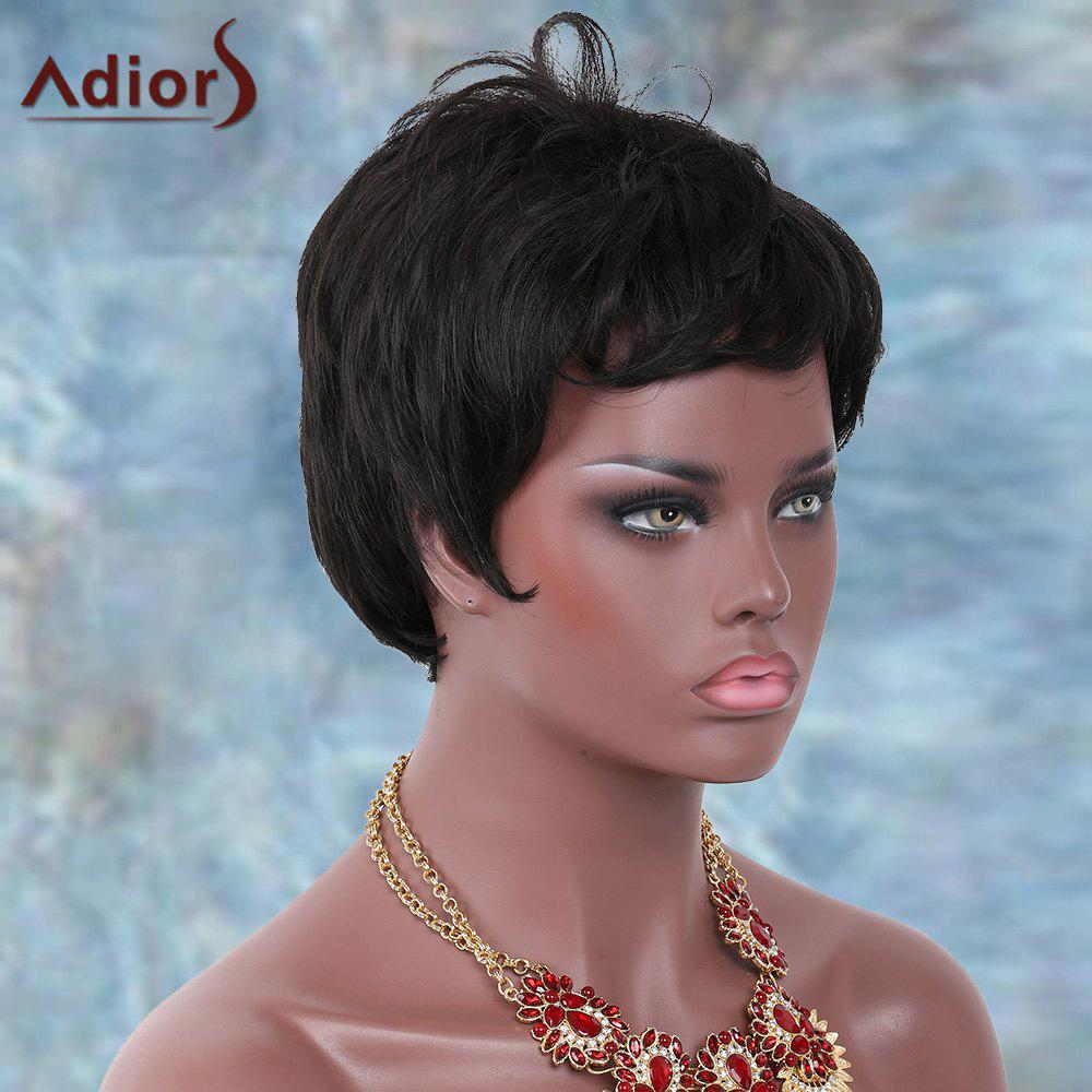Fancy Adiors Short Side Bang Straight Shaggy Synthetic Wig