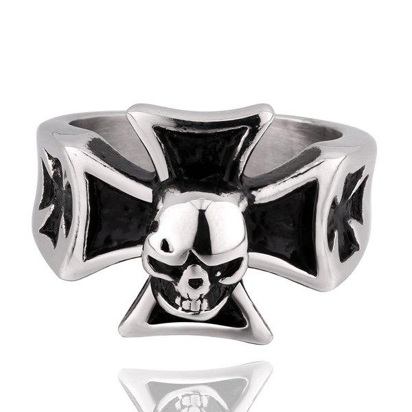 Fashion Vintage Skull Crucifix Ring
