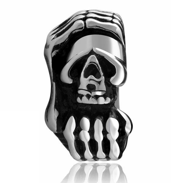 Shop Vintage Devil Claws Skull Ring