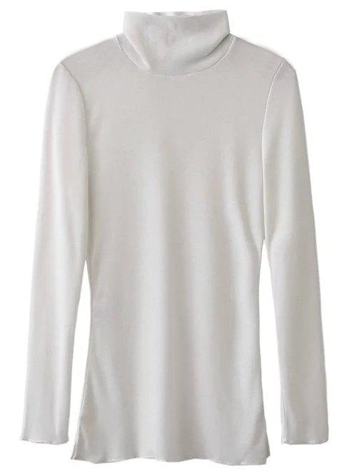 Discount High Collar Long Sleeve Tee