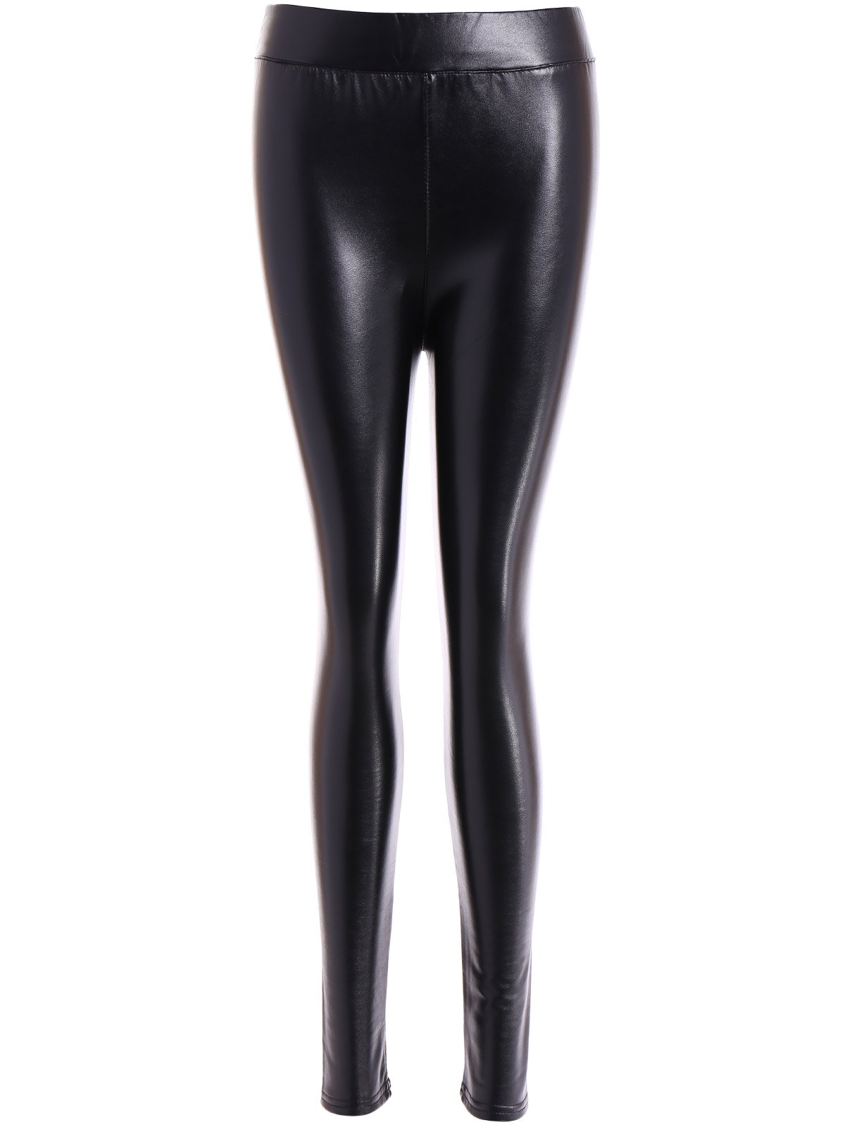 Affordable Fleece Slim Fit Faux Leather Leggings